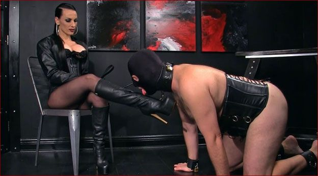 Obeynikita - Mistress Nikita - I submitted to my friend Mrs in leather boots [FULL HD 1080p]
