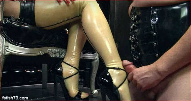 Mistress Nikita - Cum on feet and shoes of his mistress [HD 720p]