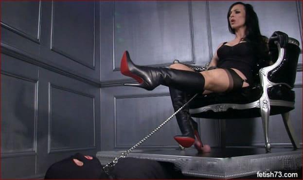 Mistress Nikita - High heels crush my penis [HD 720p]