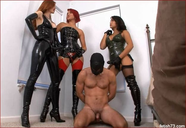 Mistress Mia, Goddess Amadahy, Kendra James - 3 femdom hard fuck guy's ass [FULL HD 1080p / ClubDom]