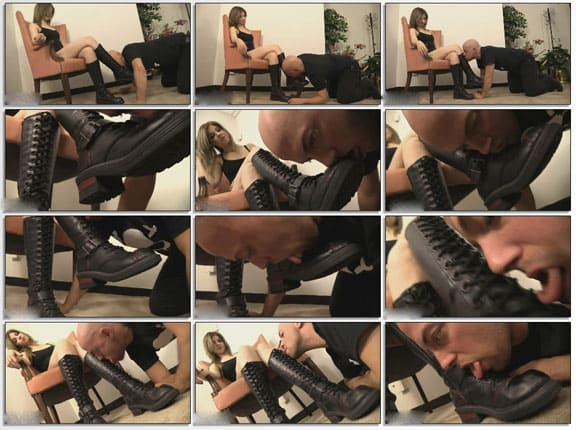 Licking my boots