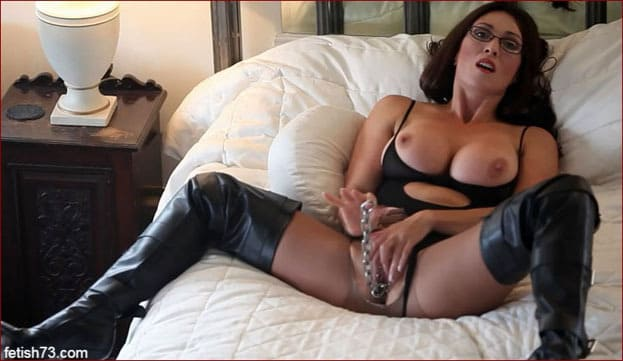Miss Hybrid - Big titted milf fucks herself an iron chain [FULL HD 1080p]