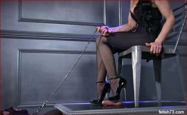 Mistress Nikita - Penis crushed sharp heel [HD 720p]