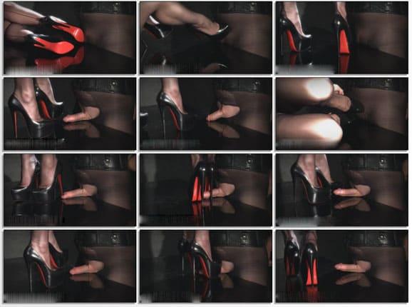 Heel stepping on penis