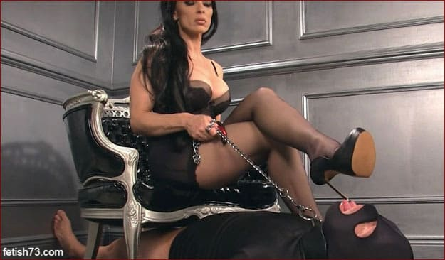 Femdom Mistress Nikita and slave at her feet [HD 720p]