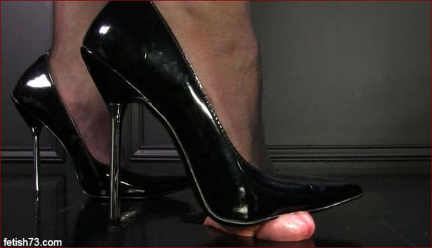 Mistress Nikita - Penis crush using sole of shoes from ruthless lady [HD 720p]