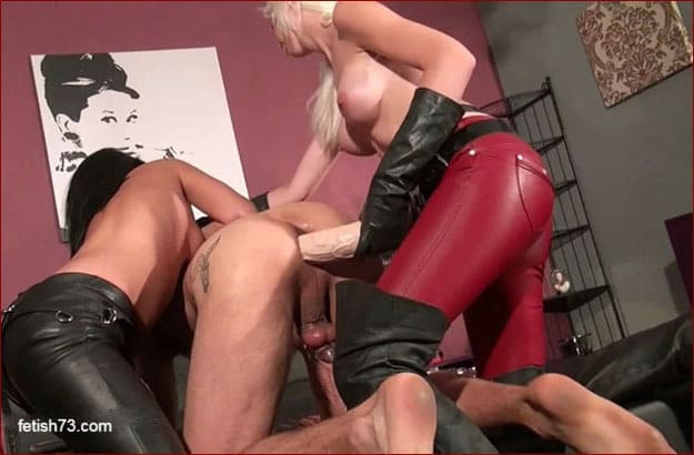 ALEXA WILD - Giant strapon femdom from girls in high boots [HD 720p]