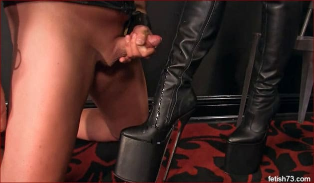Mistress Nikita - Cum on my boots slave [FULL HD 1080p]